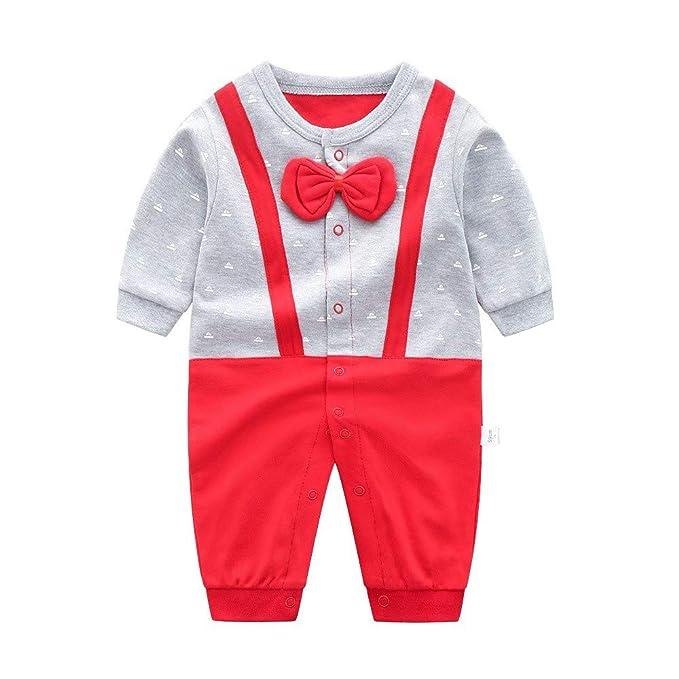 ea117d557f Recién Nacido Pelele Bebé Niño Pijama de Algodón Mameluco Tuta Trajes 0-12  Meses  Amazon.es  Ropa y accesorios