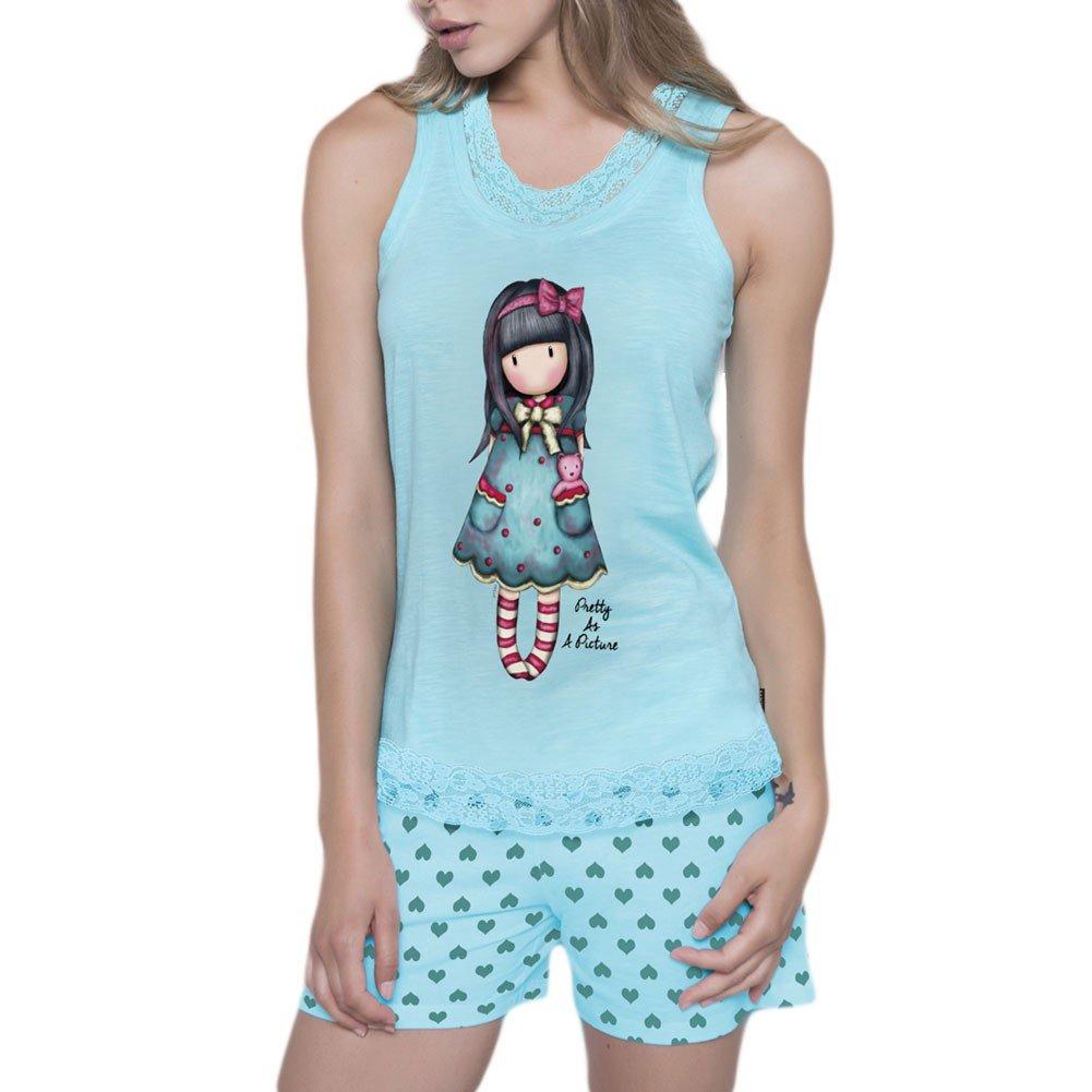 TALLA XS. Gorjuss Pijama Mujer Verano Tirantes - Pretty As A Picture