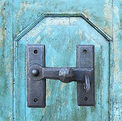 Riegel Tor Verschluss Türriegel Schmiedeeisen Schubriegel wie antik