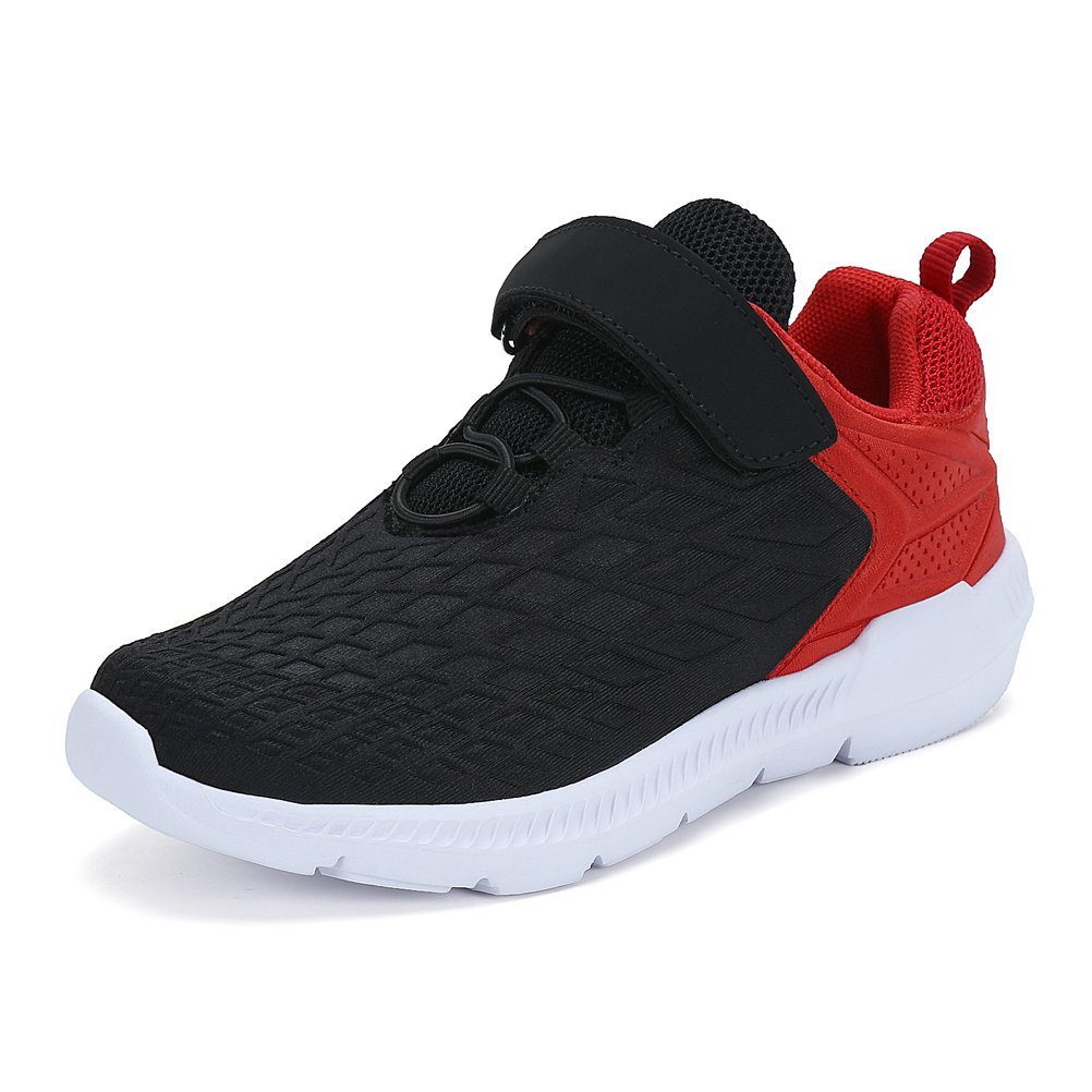 AFFINEST Boys Girls Lightweight Running Shoes Casual Walking Sneakers(Black,34)