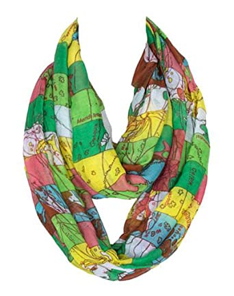 Green world map scarf womens printed scarf shawls voile warm green world map scarf womens printed scarf shawls voile warm antistatic spliced colours gumiabroncs Gallery