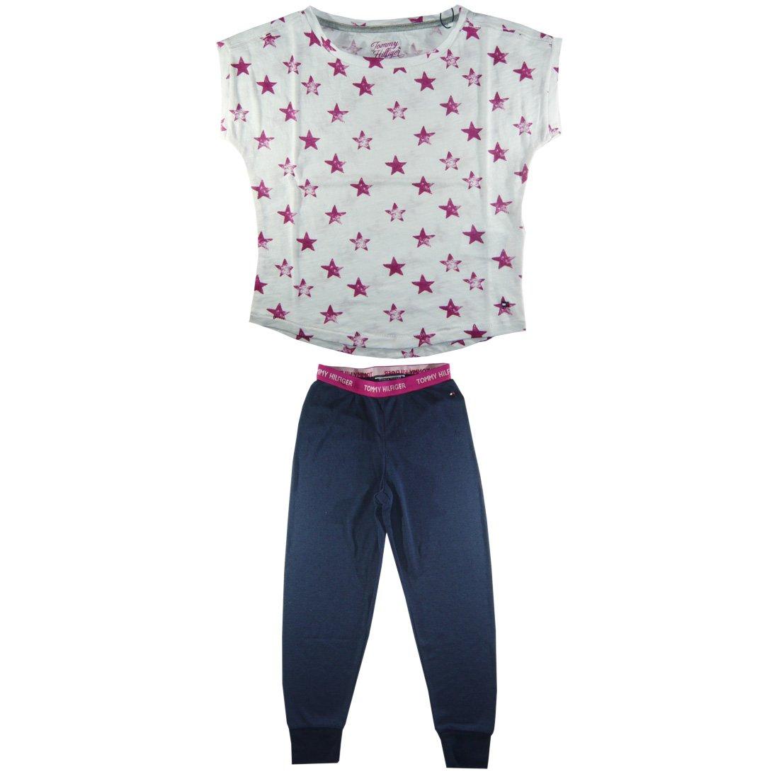 Tommy Hilfiger Tommy Hilfiger Mädchen Pyjama KHIA PJ SET / EX57119436  Schlafanzüge: Amazon.de: Bekleidung