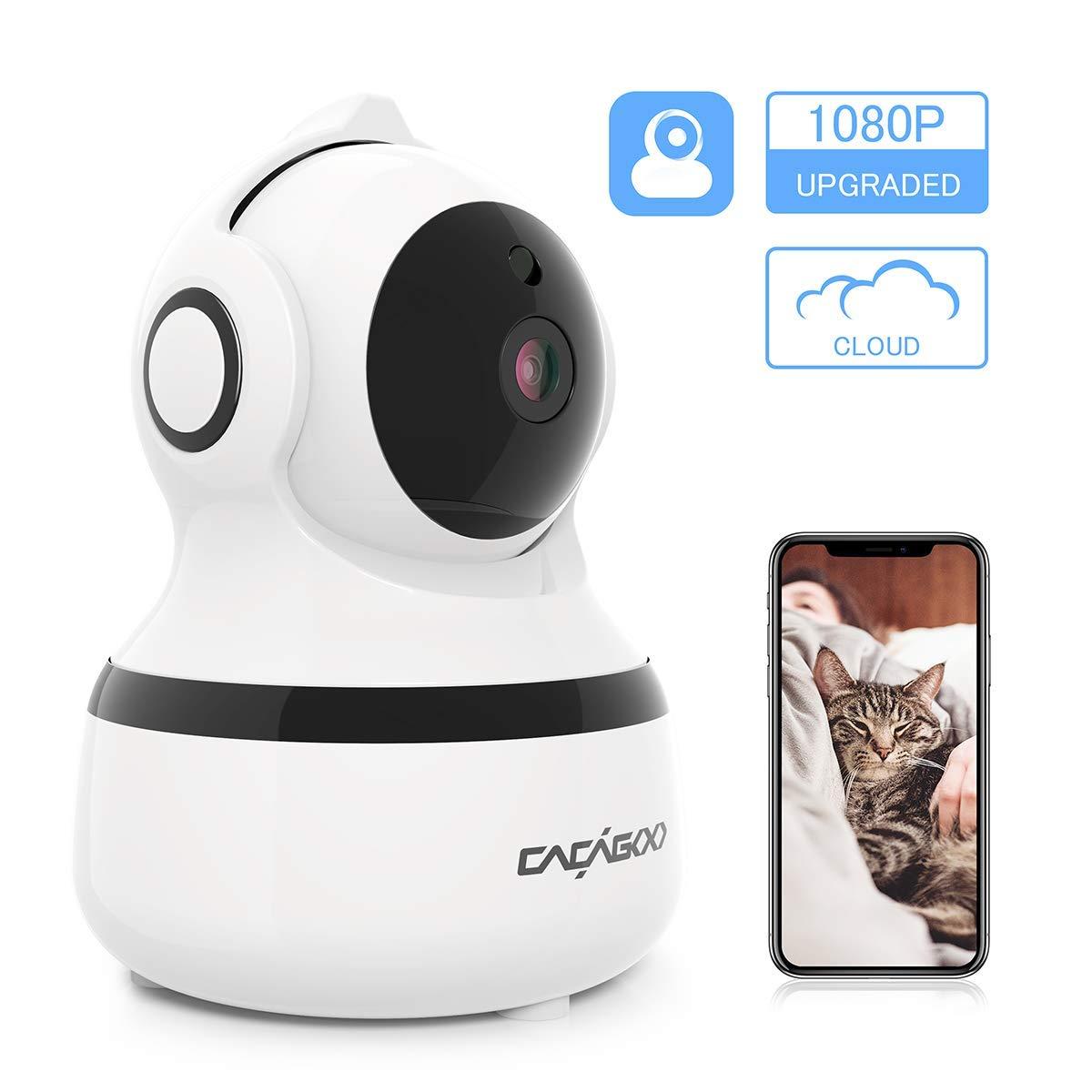 Cámara IP Wifi 1080P CACAG00,Cámara de Vigilancia Interior Inalámbrico 2.4G,almacenamiento en la nube,audio bidireccional,detección de movimiento con alarma,visión nocturna product image