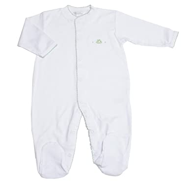 4d79dd69d89 Amazon.com  Kissy Kissy Baby Boys Homeward Bound Froggie Embroidered Footie- Preemie  Infant And Toddler Bodysuit Footies  Clothing
