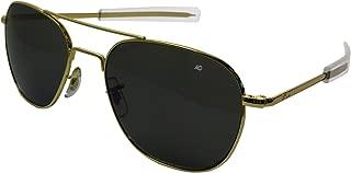 product image for American Optics Flight Gear Original Pilot Sunglass, 57-mm Gold Frame with Bayonet Temples, True Color Grey Glass Lens