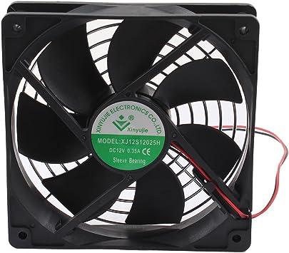 DC 12V 0.35A 120mmx120mm ordenador PC ventilador de refrigeración ...