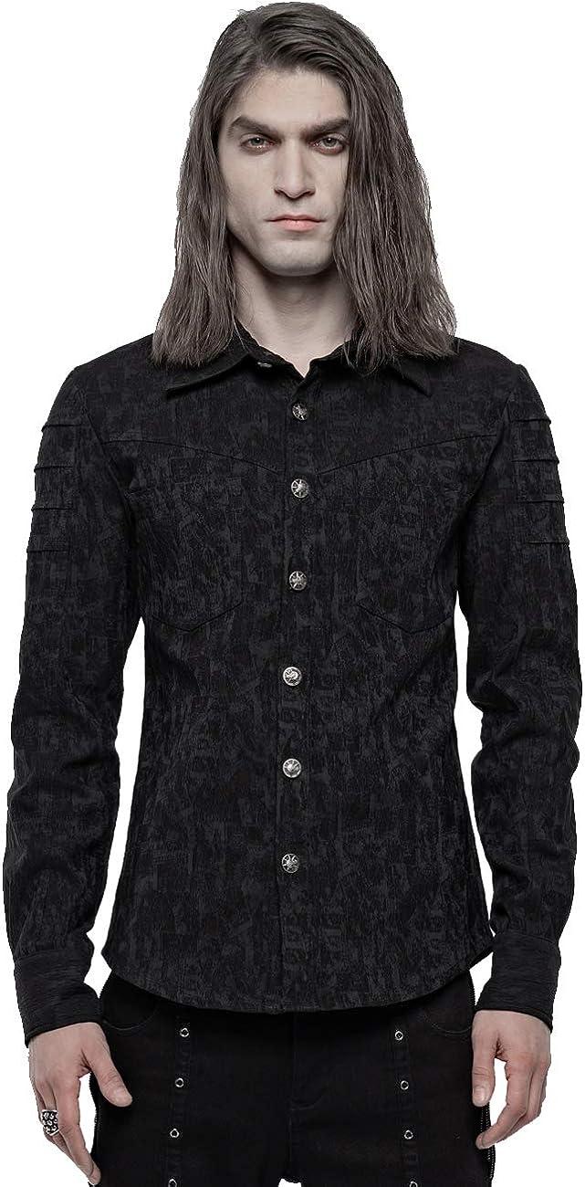 Punk Rave Camisa victoriana de jacquard elástica para hombre ...