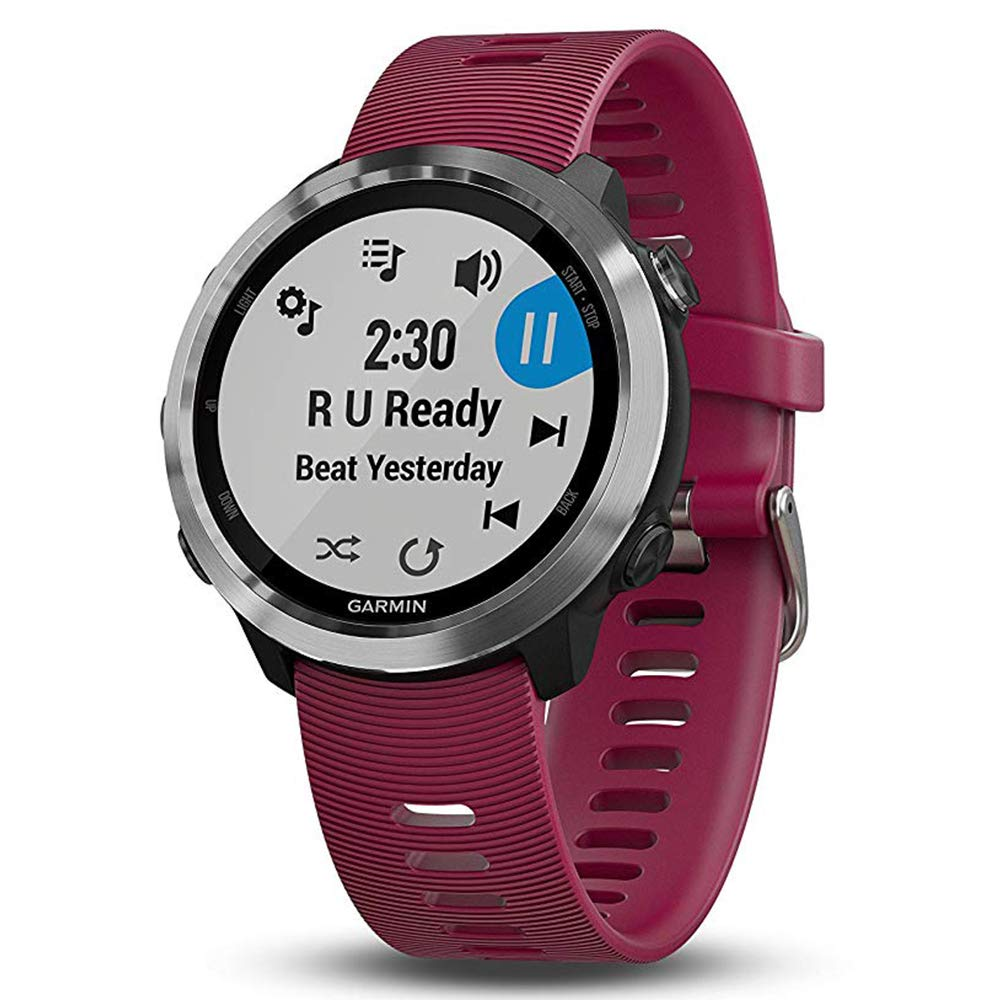 Garmin Forerunner 645 Music Bundle with Extra Band & HD Screen Protector Film (x4) | Running GPS Watch, Wrist HR, Music & Spotify, Garmin Pay (Cerise + Music, Orange) by PlayBetter (Image #2)