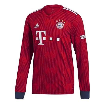 f6441be6bd6 Amazon.com: adidas Mens 2018/19 Bayern Munich Home Long Sleeve ...