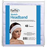 """ForPro Stretch Headbands - Moisture Absorbent Disposable Spa Headbands - 2.25"""" W x 18"""" C - 48-Count"""