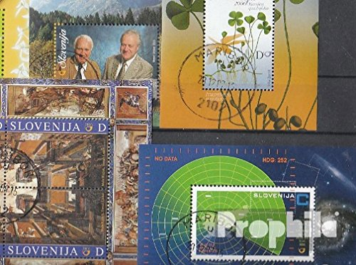 Slovenia 5 Different Pads (Stamps for Collectors)