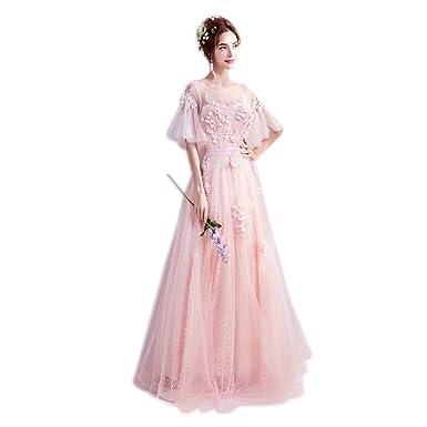 00e16eb107ee1 カラードレス 花嫁 ドレス ピンク パーティードレス 結婚式 フォーマルドレス 二次会 ロングドレス ブライダル 発表