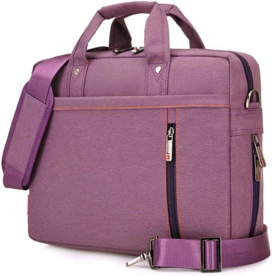 "SNOW WI 14.4"" Expandable Laptop Shoulder Bag for MacBook,Acer,Asus,Dell(Purple)"
