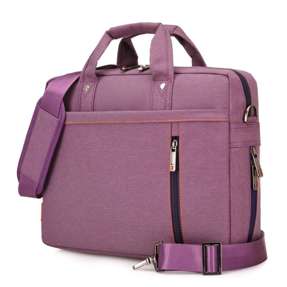 Laptop Case,SNOW WI- 12-13.3 Inch Fashion Durable Multi-functional waterproof Laptop Shoulder Bag Briefcase Case for MacBook Air,MacBook Pro,Acer,Asus,Dell,Lenovo,HP,Samsung,Sony,Toshiba(Purple) by SNOW WI (Image #1)