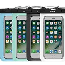 4 Pack Waterproof Case,iBarbe Universal Plasic TPU Phone Dry Bag for iPhone 7 7 plus 6S 6/6S Plus 5/S/SE 5C samsung galaxy Note 5 s8 s8 plus S 8 S7 S6 Edge s5 etc.to 5.7 inch,White+Black+Tear+Blue