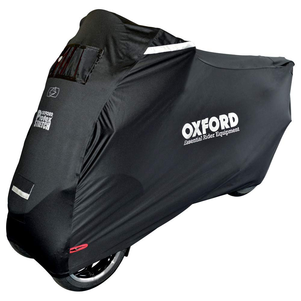 OXFORD Motorcycle Protex Stretch Motorcycle Cover for Three Wheel Bikes Black