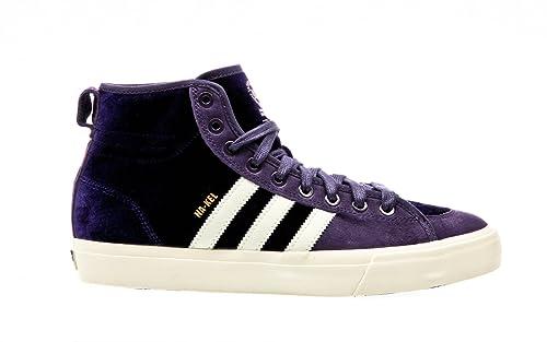adidas Matchcourt High RX, Scarpe da Skateboard Uomo, Viola (Purple Dpurple/Cwhite