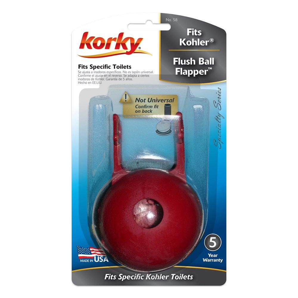 Korky 58BP Flush Ball For Kohler Toilet Repairs Replaces Kohler Part 49114 Made in USA