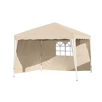 Amazon.de: Vanage Pavillon Stella Beige Aus Aluminium Mit 4 ... Gartenpavillon Aus Aluminium