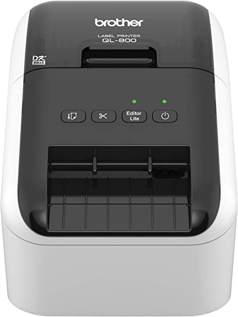 Brother QL-800 High-Speed Professional Label Printer, Lightning Quick Printing, Plug & Label Feature, Brother Genuine DK Pre-Sized Labels, ...