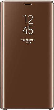 Oferta amazon: Samsung Clear View Standing - Funda para Galaxy Note 9, color marrón- Version española