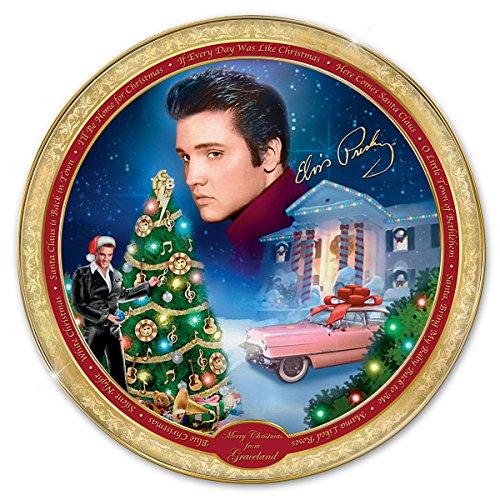 Bradford Exchange Elvis - Elvis Presley Collector Plate: Merry Christmas From Graceland by The Bradford Exchange
