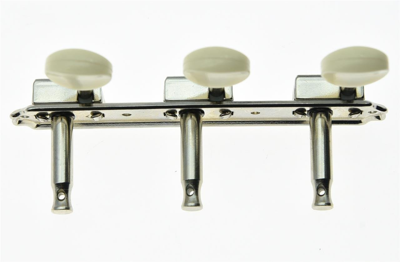 KAISH Nickel w/Aged White 3 per side 3x3 on a Plate Vintage Guitar Tuning Keys Tuners Korea Made by KAISH (Image #4)