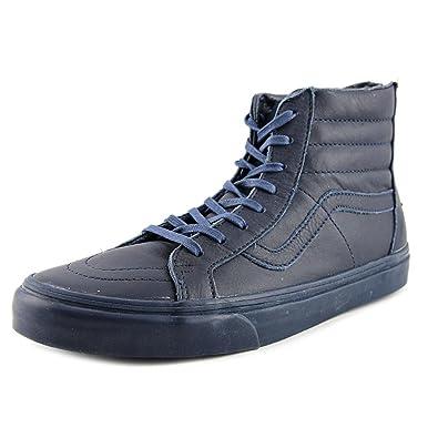 vans leather navy blue