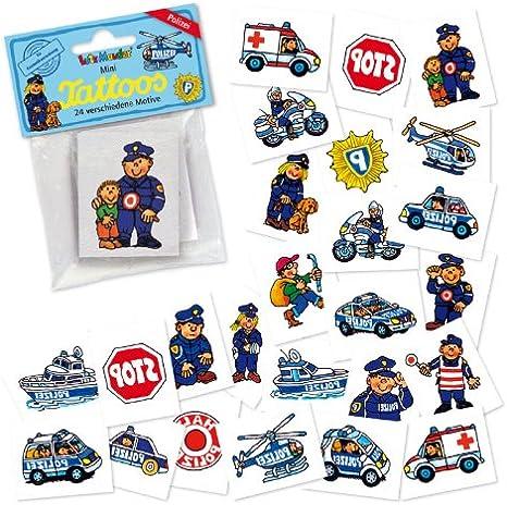 24 mini-tatuajes * Policía * De LUTZ MAUDER // 47307 // Policía ...