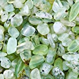 SUNYIK Green Prehnite Tumbled Chips Stone,Crushed Crystal Quartz Pieces,Irregular Shaped Stones,1pound(about 460 gram)