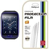 [Healing Shield] Samsung Gear S 專用  防指紋&低反射 気泡レスフルカバー液晶保護フィルム 3枚