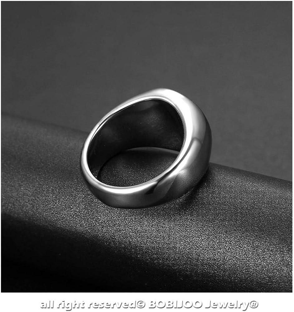 Blanc Acier Argent/é Noir et Yang Bague Chevali/ère Unisexe Homme Femme Yin BOBIJOO Jewelry