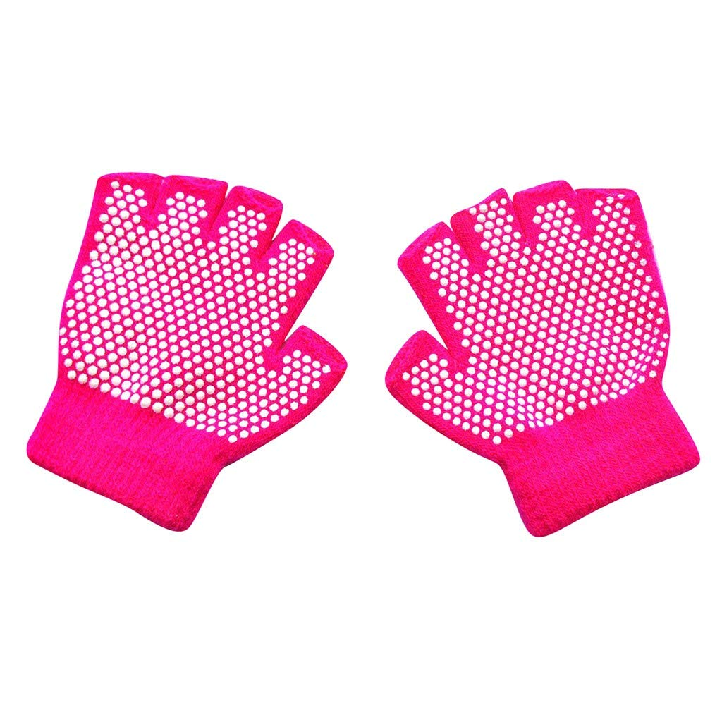 Alwayswin Kinder Winter Handschuhe Warm Gestrickt Handschuhe Fingerlose rutschfeste Handschuhe Winterhandschuhe Kinderhandschuhe Strickhandschuhe Halbe Finger Punkt K/örnchen Handschuhe