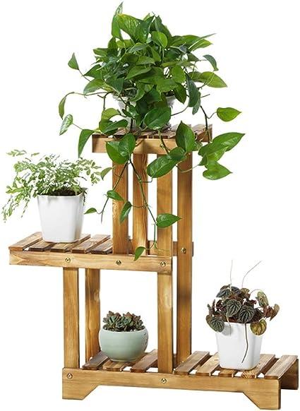 3-Tier Soporte de Madera para Plantas, Estante de Madera de ...