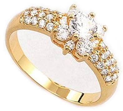 23a6c43747f9 NICE Anillo de Piedras Diamonice para Mujer  Amazon.es  Joyería