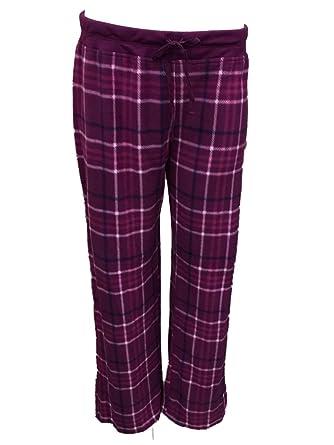 0dec2211814c Soft Sensations Womens Purple Plaid Fleece Sleep Pants Pjs Pajama Bottoms M