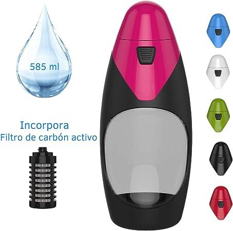 Botella de Agua con Filtro de Carbón Activo. Diseñado en Europa ...
