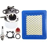 AUTOKAY 799868 Carburetor with Gasket Air Filter Primer Bulb Spark Plug for Briggs & Stratton 498170 497586 497314…