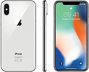 """Apple iPhone X 5.8"""" Tarjeta SIM Sencilla 4G 64GB Plata - Smartphone (14.7 cm (5.8""""), 64 GB, 12 MP, iOS, 11, Plata)"""