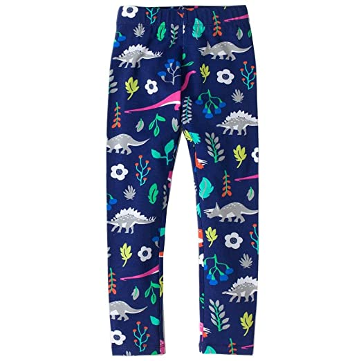 14572393dcd66 Bleubell Girls Color Leggings Dinosaur Printed Pants Size 2-12 Years (2T,  Blue