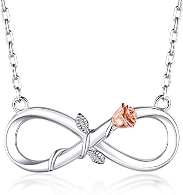 collier argent infinity