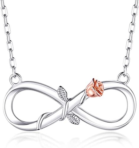 925 Sterling Silver Plating Women Fashion Beautiful Bloom Pendant Necklace