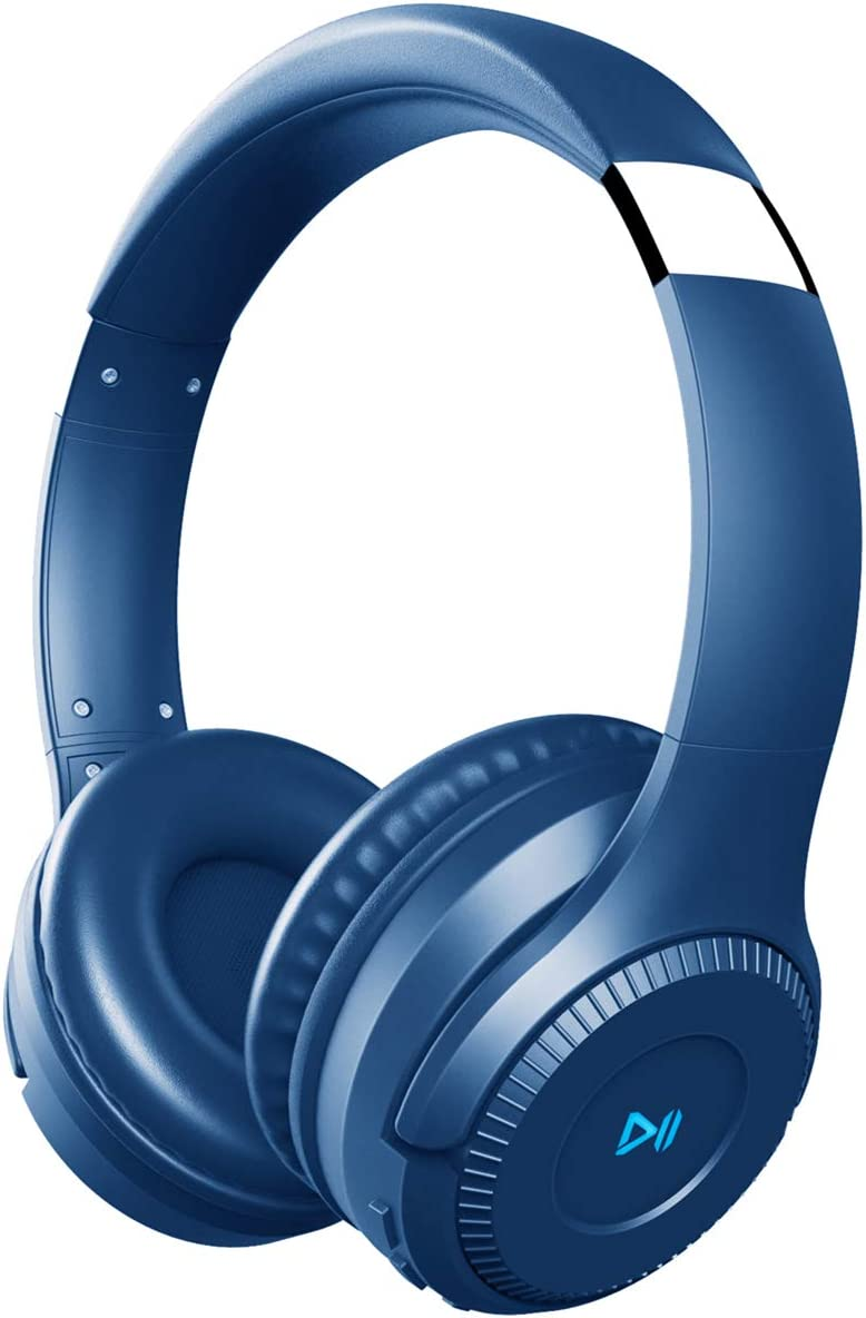 PONYBRO H2 Bluetooth Headphones Over Ear,Dual 50mm Drivers HiFi Stereo Wireless Headphones Noise Cancelling, Wireless Headset with Mic and Wired&TF Card Mode for Cell Phones/PC/TV - Blue