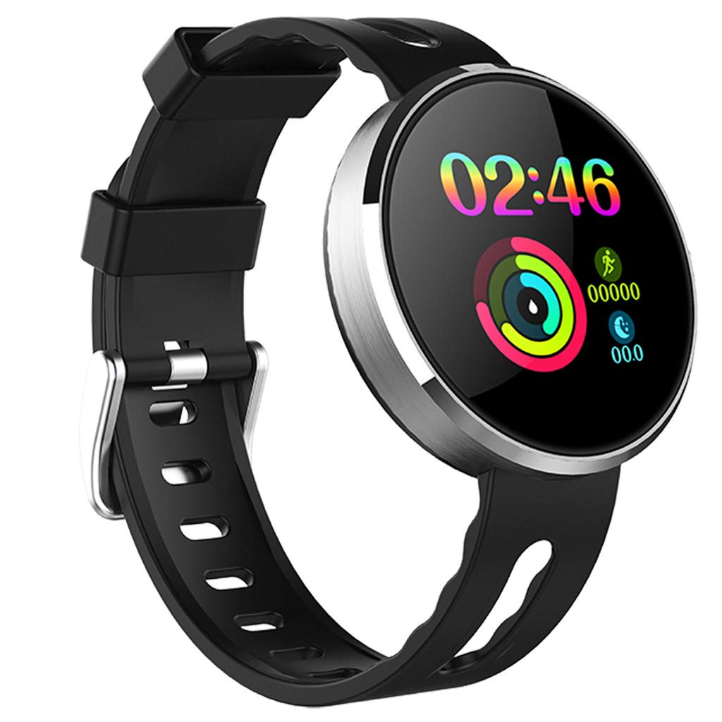 YNAA for Android iOS, Sport Smart Watch, Fitness Calorie Heart Rate Monitoring Physiological Cycle Reminder Smart Bracelet (A) by YNAA (Image #3)