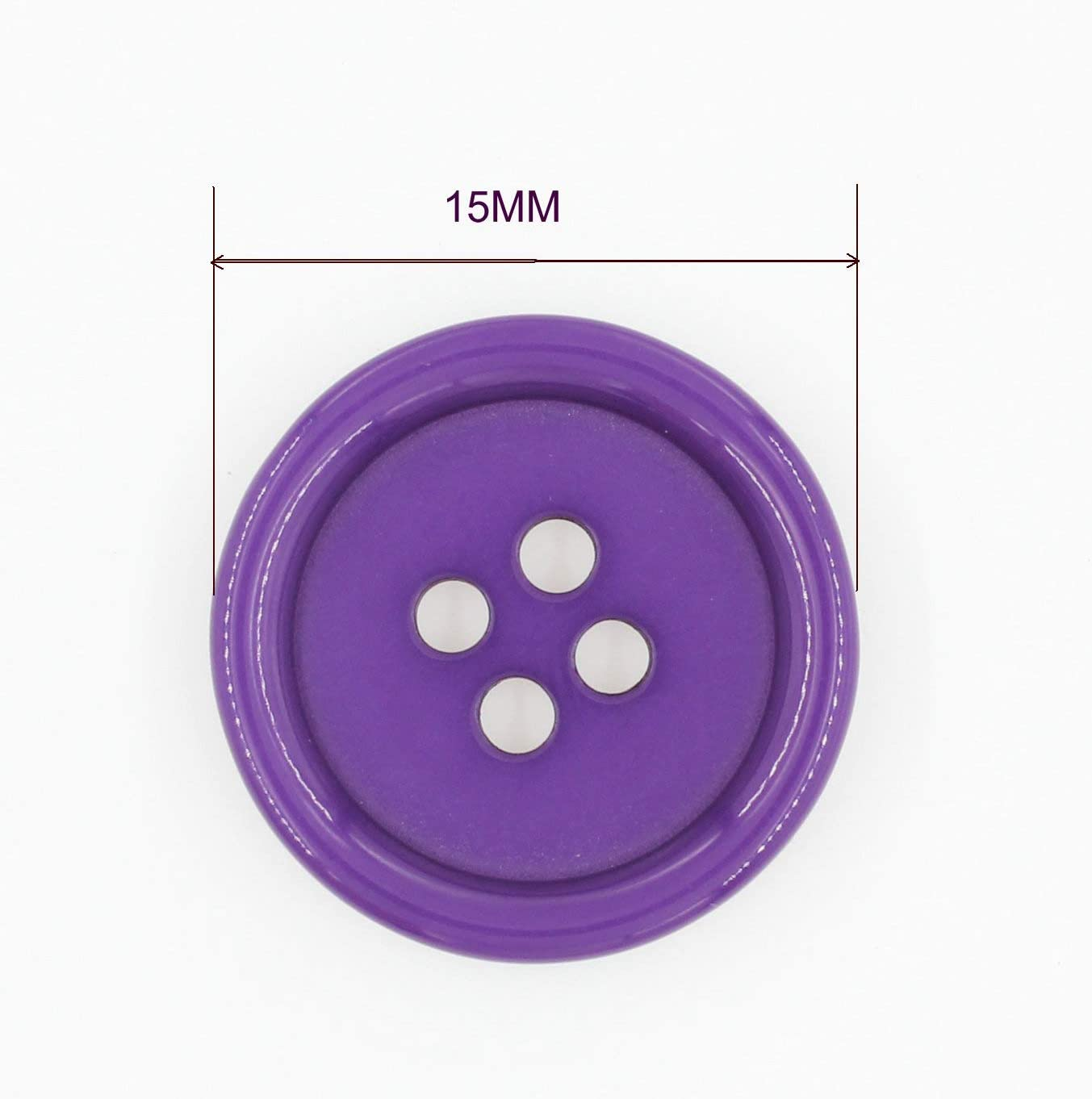 8 22 mm purple and silver grey plastic buttons
