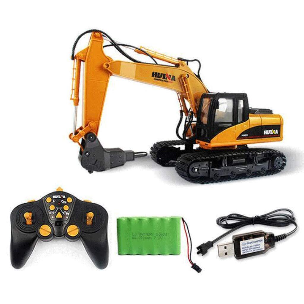 Canale RC Drill Escavatore Lega Die Cast Drill Tractor Construction Toy Trattore Telecomando Costruzione Trattore Lega Trapano Regalo di Compleanno Regali di Natale Regalo di Capodanno