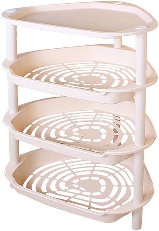 Estante de baño Estanterías de Almacenamiento Modernas y Elegantes de 4 Niveles Artículos de baño de Color Rosa Claro Estructura de colación Triángulo Estantería de Almacenamiento de plástico Tipo de: Amazon.es: Hogar