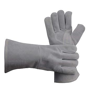Guantes de soldadura, guantes de forja de cuero y resistentes al ...