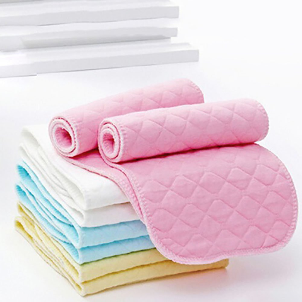 Pink Yamalans 10pcs Baby Washable 3 Layers Cotton Cloth Diaper Reusable Nappy Liners Inserts
