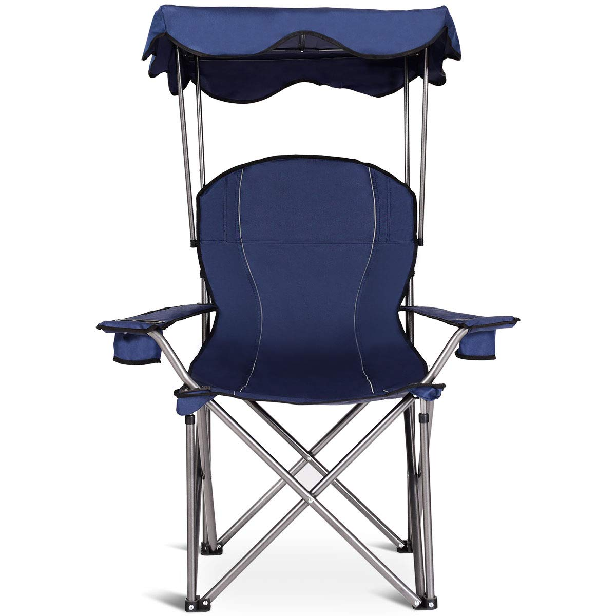 Amazon.com: Goplus - Silla de playa plegable con toldo ...
